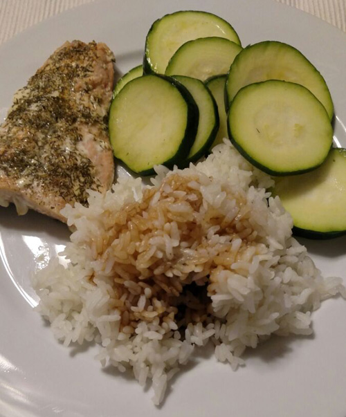 Salmon Rice Zuccini