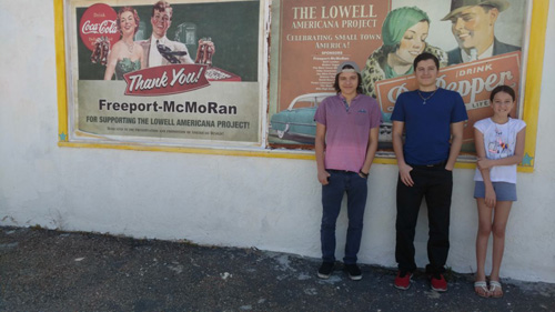 The kids at the Shell station both ads resized