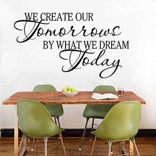 We create our tomorrows