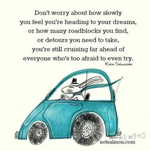 dont worry about how slowly you feel youre heading to your dreams